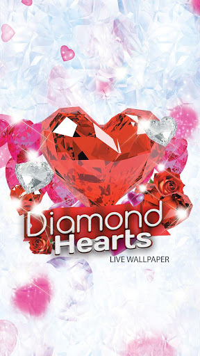 Diamond Hearts Live Wallpaper screenshot 1