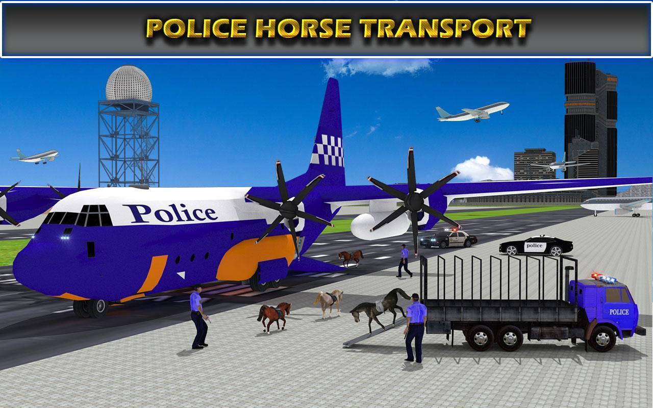 US Police Airplane Cop Dog Transporter Kids Games screenshot 11