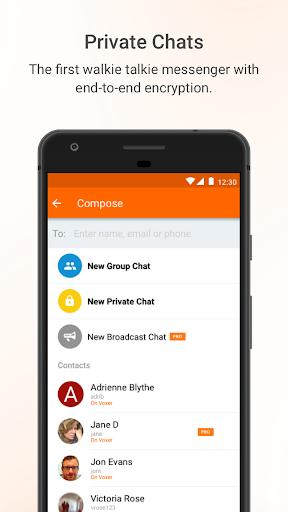 Voxer Walkie Talkie Messenger screenshot 2