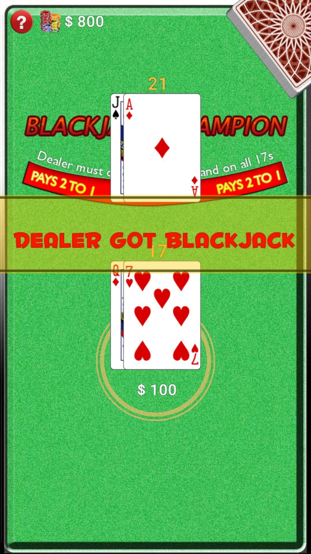 BlackJack Champion screenshot 3