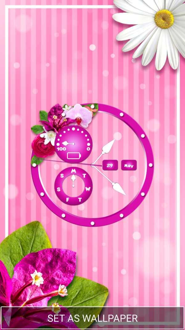 Flower Clock Wallpaper screenshot 3