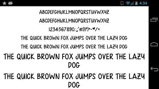 Fonts for FlipFont 50 Written screenshot 3