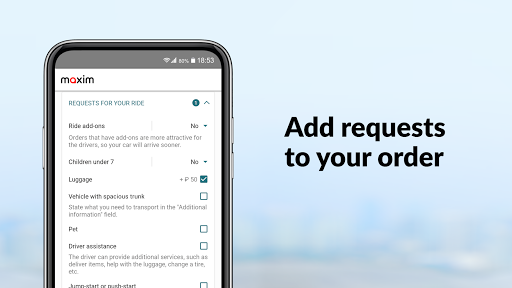maxim — order taxi, food and groceries delivery screenshot 8