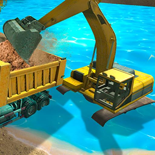 River Sand Excavator Simulator 3D icon