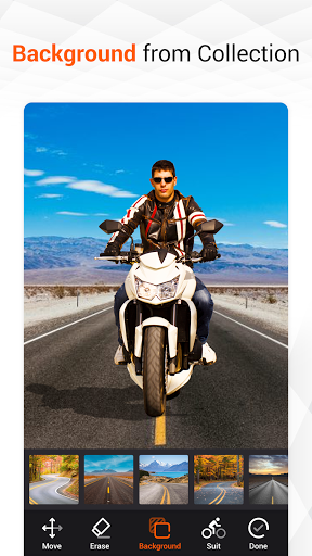 Man Bike Rider Photo Editor - photo frame screenshot 8