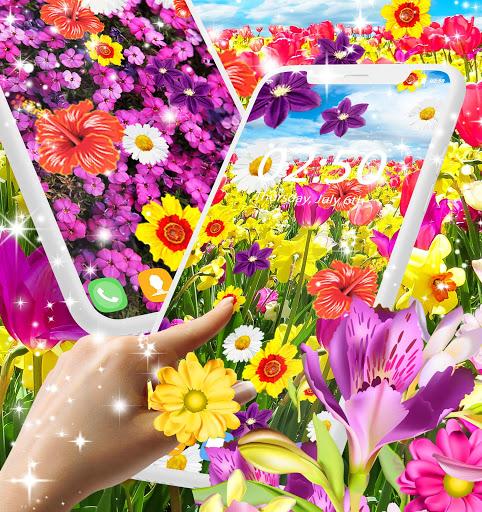 Flowers live wallpaper 2 تصوير الشاشة