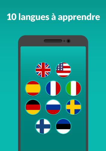 WordDive : Apprendre l'anglais, l'espagnol & plus screenshot 1