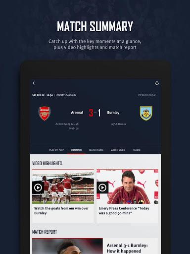 Arsenal Official App 16 تصوير الشاشة
