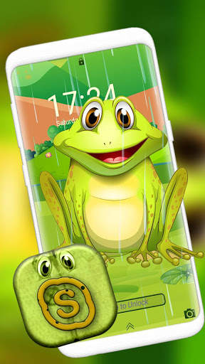 Cute Frog Cartoon Launcher Theme screenshot 8