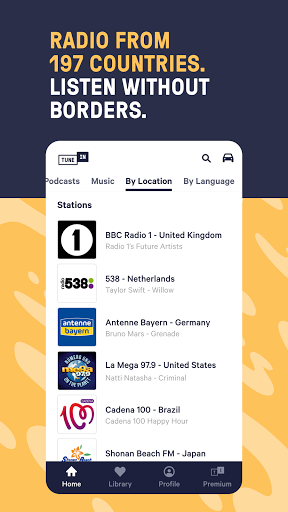 TuneIn Radio: Live News, Sports & Music Stations 5 تصوير الشاشة