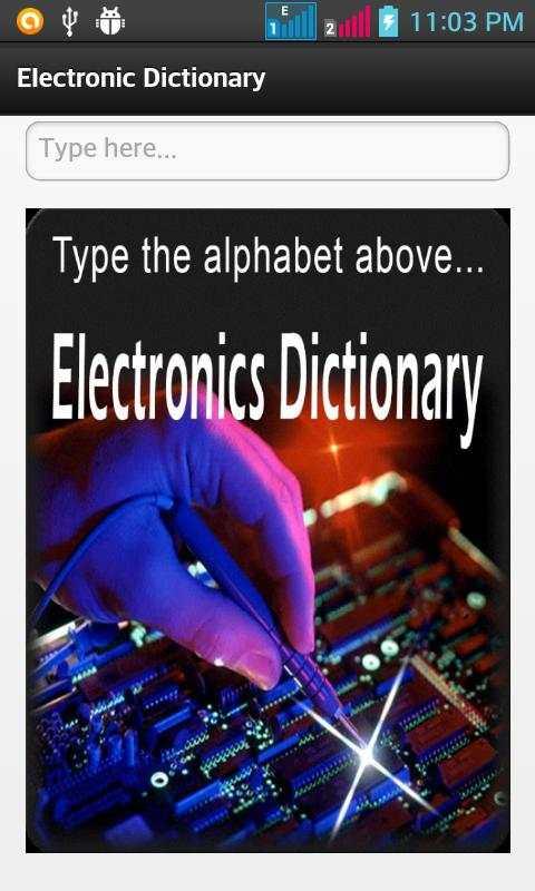 Electronic Dictionary screenshot 1