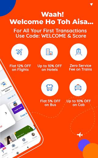 Goibibo Travel App-Hotel, Flight, IRCTC Train, Bus screenshot 2