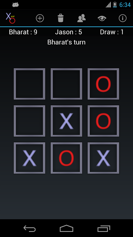 X and O screenshot 2
