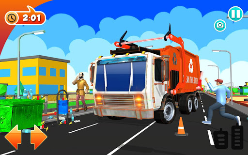 Urban Garbage Truck Driving - Waste Transporter screenshot 21