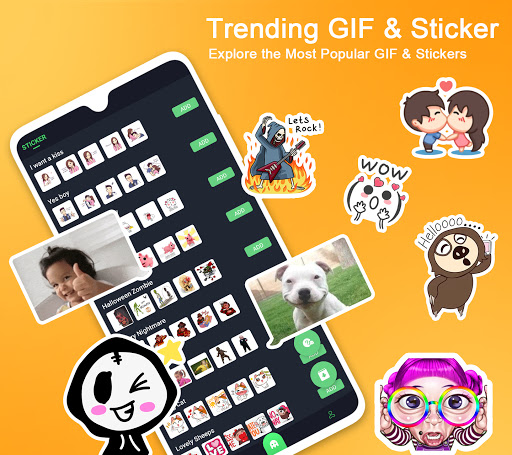 ❤️Emoji keyboard - Cute Emoticons, GIF, Stickers screenshot 4
