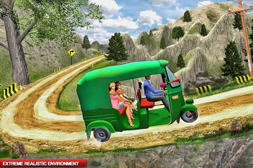 Mountain Auto Tuk Tuk Rickshaw: Game Baru 2020 screenshot 5