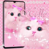 Cute Kitty theme Pink Bow Kitty أيقونة