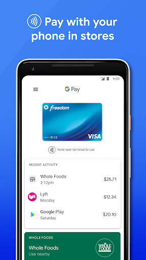Google Pay: Pay with your phone and send cash screenshot 1