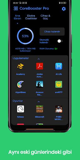 CoreBooster - Oyun ve Uygulama Hızlandırıcı 6 تصوير الشاشة