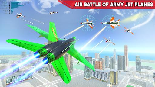 Army Bus Robot Transform Wars – Air jet robot game screenshot 2