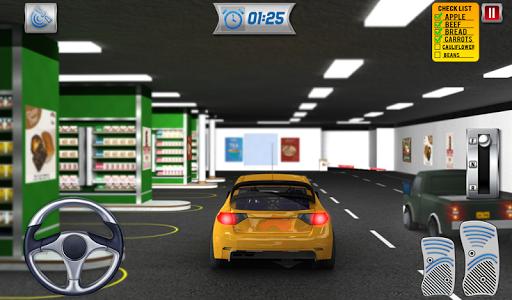 चलाना थ्रू सुपरमार्केट: खरीदारी मॉल कार ड्राइविंग स्क्रीनशॉट 14