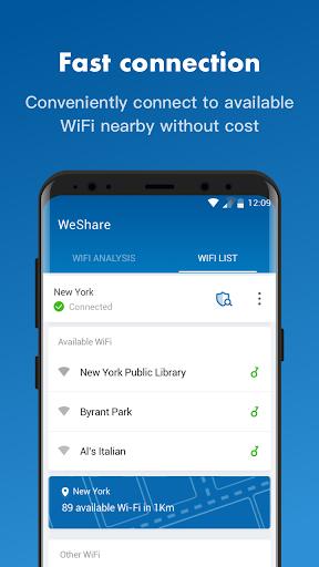 WeShare: Share WiFi Worldwide freely screenshot 2