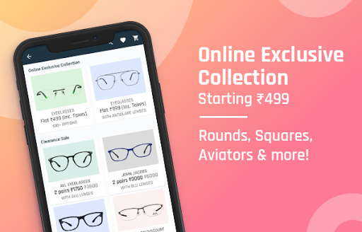 Lenskart: Eyeglasses, Sunglasses, Contact Lens App скриншот 1