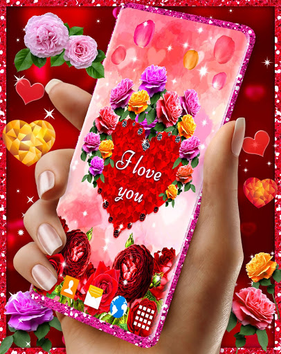 Diamond Hearts Live Wallpaper 💎 Love 4K Wallpaper 2 تصوير الشاشة