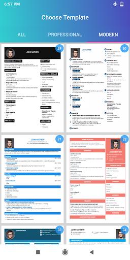 Resume Builder App Free CV maker 2021 - PDF Format screenshot 7