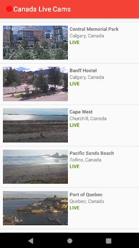 Canada Live Cams 2 تصوير الشاشة