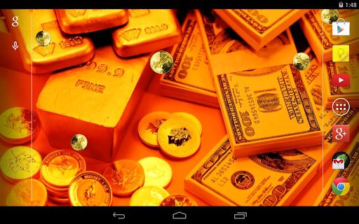 Gold Live Wallpaper 4 تصوير الشاشة