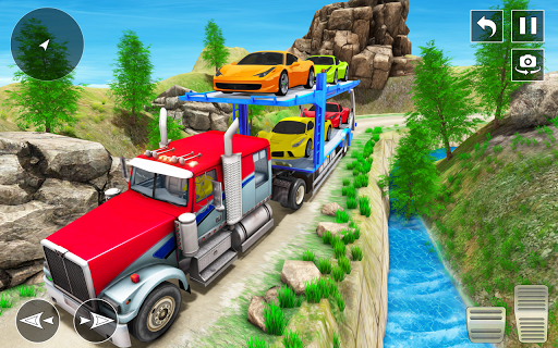Crazy Car Transport Truck:New Offroad Driving Game screenshot 8