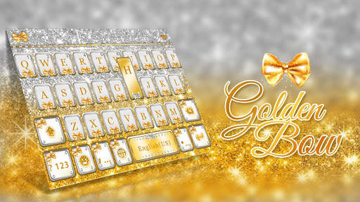Golden Bow Keyboard Theme screenshot 1
