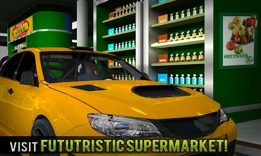 चलाना थ्रू सुपरमार्केट: खरीदारी मॉल कार ड्राइविंग स्क्रीनशॉट 1