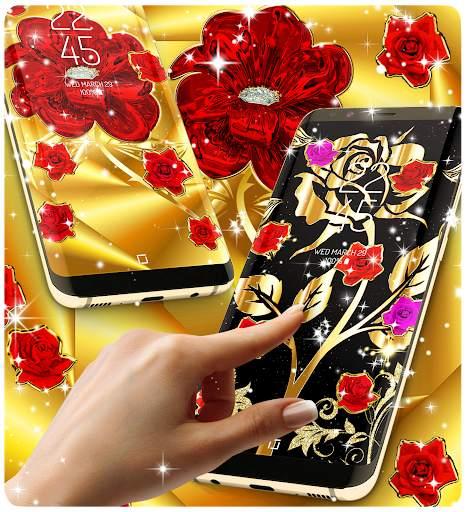 Gold rose live wallpaper screenshot 3