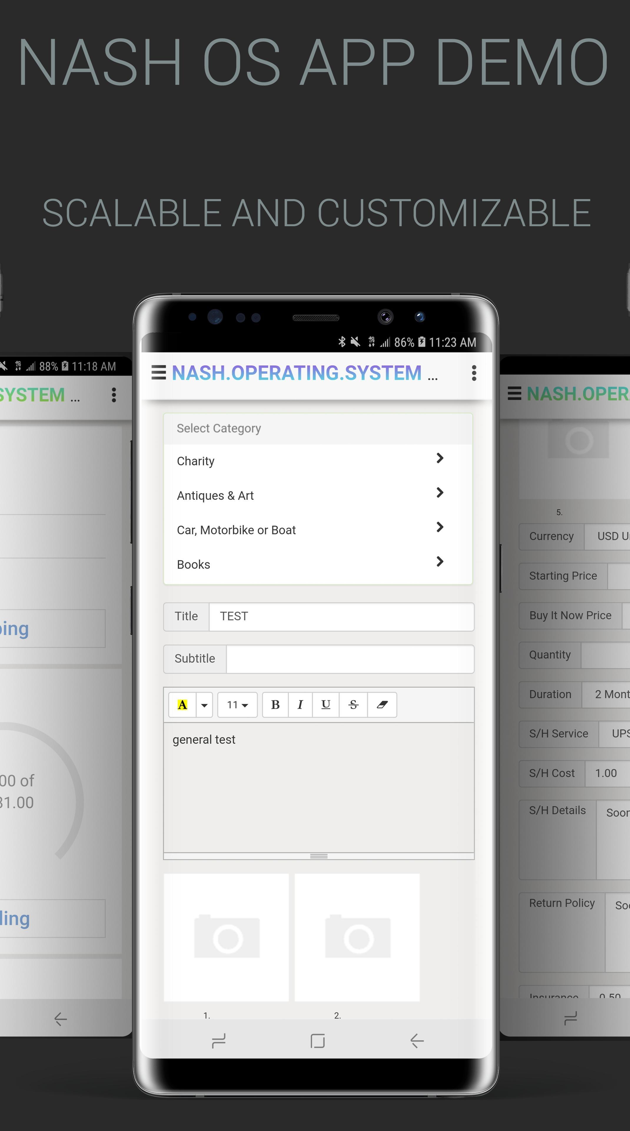 NASH OS APP (MOBILE DEMO) screenshot 5