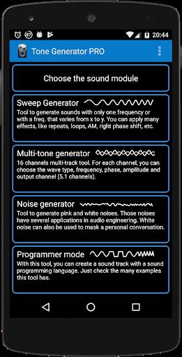 Tone Generator PRO 1 تصوير الشاشة