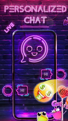 Neon Messenger for SMS - Emojis, original stickers screenshot 7