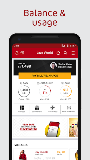 Jazz World - Manage Your Jazz Account स्क्रीनशॉट 1