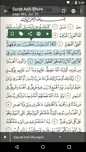 Quran for Android screenshot 4