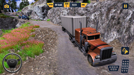 American Truck Cargo Car Transporter Driving screenshot 2