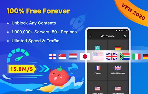 Free VPN Tomato | Fastest Free Hotspot VPN Proxy screenshot 1