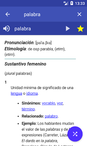 Spanish Dictionary - Offline screenshot 1