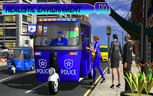 Police Tuk Tuk Auto Rickshaw Driving Game 2021 screenshot 7