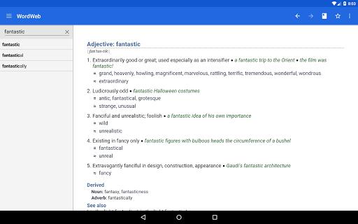 Dictionary - WordWeb स्क्रीनशॉट 10