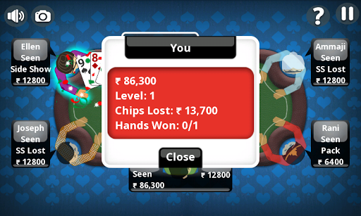Teen Patti Offline Indian Poker 4 تصوير الشاشة