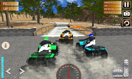 Offroad ATV quad bike racing sim: Bike racing game screenshot 4