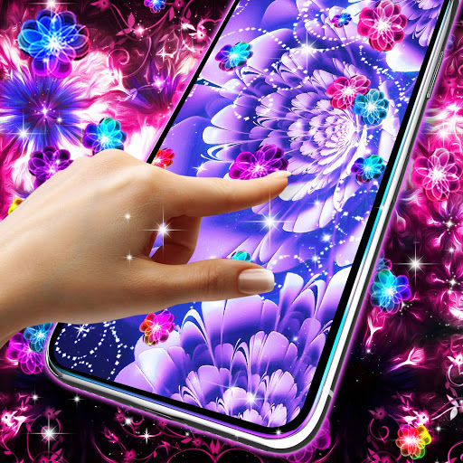 Glowing flowers live wallpaper скриншот 4