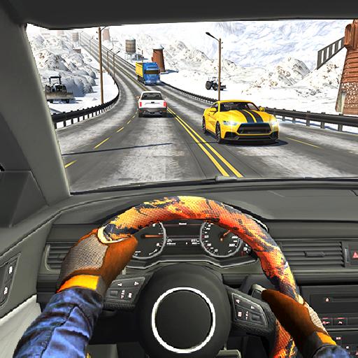 الطريق السريع القيادة سيارة سباق لعبه سيارة ألعاب أيقونة