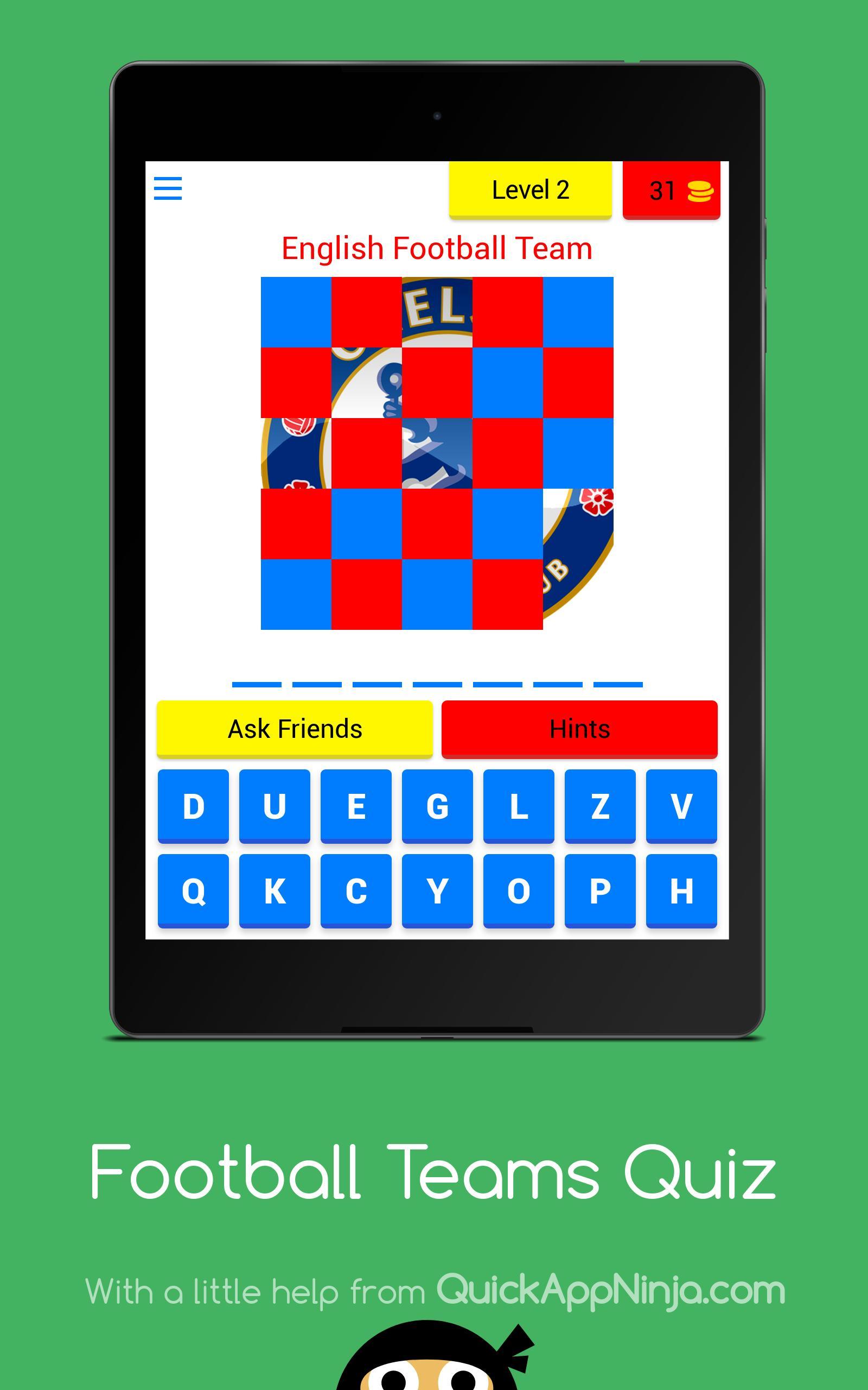 Football Teams Quiz 9 تصوير الشاشة